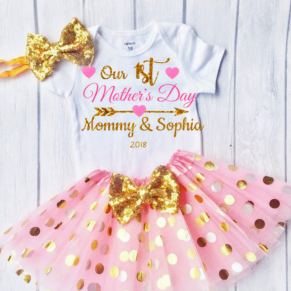 Our 1st Mothers Day- Personalized Outfit for Baby to celebrate 1st Mother's Day