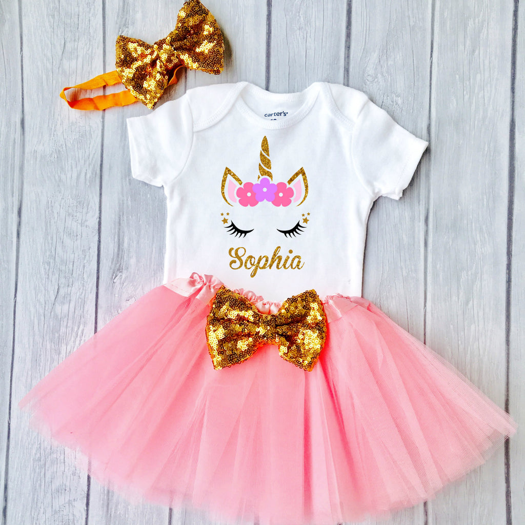 Toddler Girls First Birthday Outfit Special Gift For Your Princess