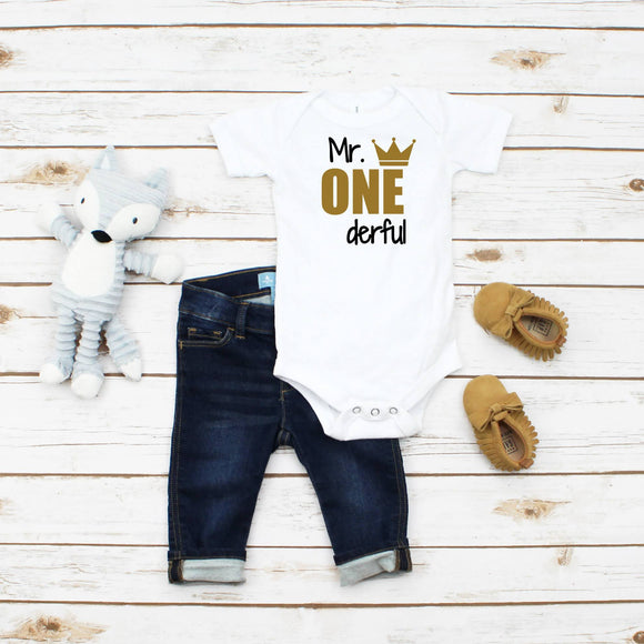 Personalized Boys 1st Birthday Outfit
