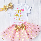 Happy Father's Day - Personalized Adorable Outfit for your little baby's to celebrate Father's Day