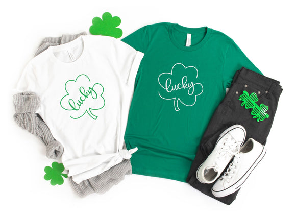 Women's St. Patrick's Day Shirt with Lucky Clover