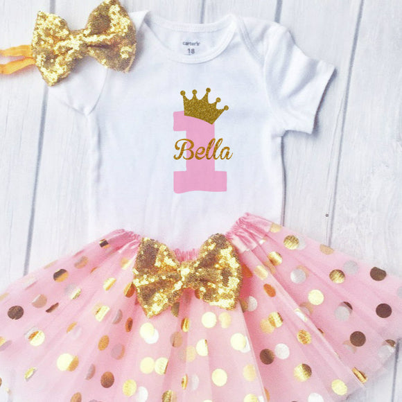 First Birthday Outfit Girl, 1st Birthday Girl Outfit, Birthday Princess Any Name