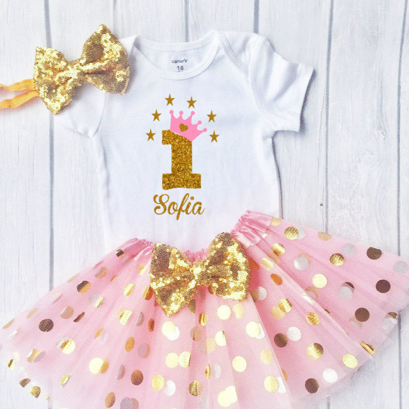 Baby Girls First Birthday Outfit, Special Gift For Your