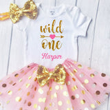 Baby Girls 1st Birthday Outfit - Wild One Birthday Girl