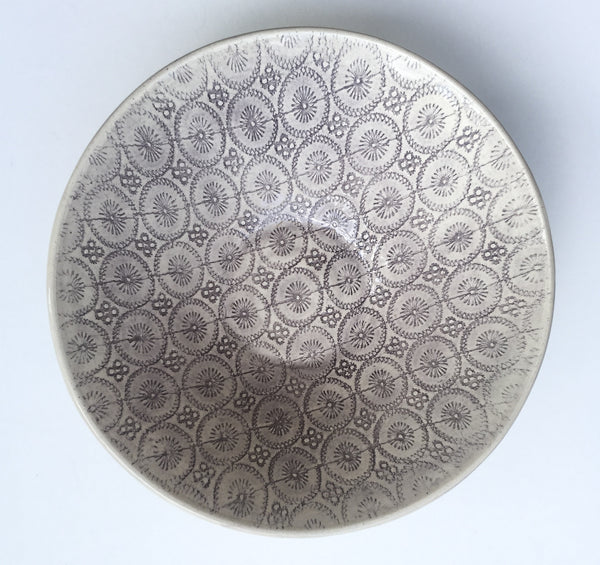 Soup Bowl, Aubergine - Lollipop Pattern