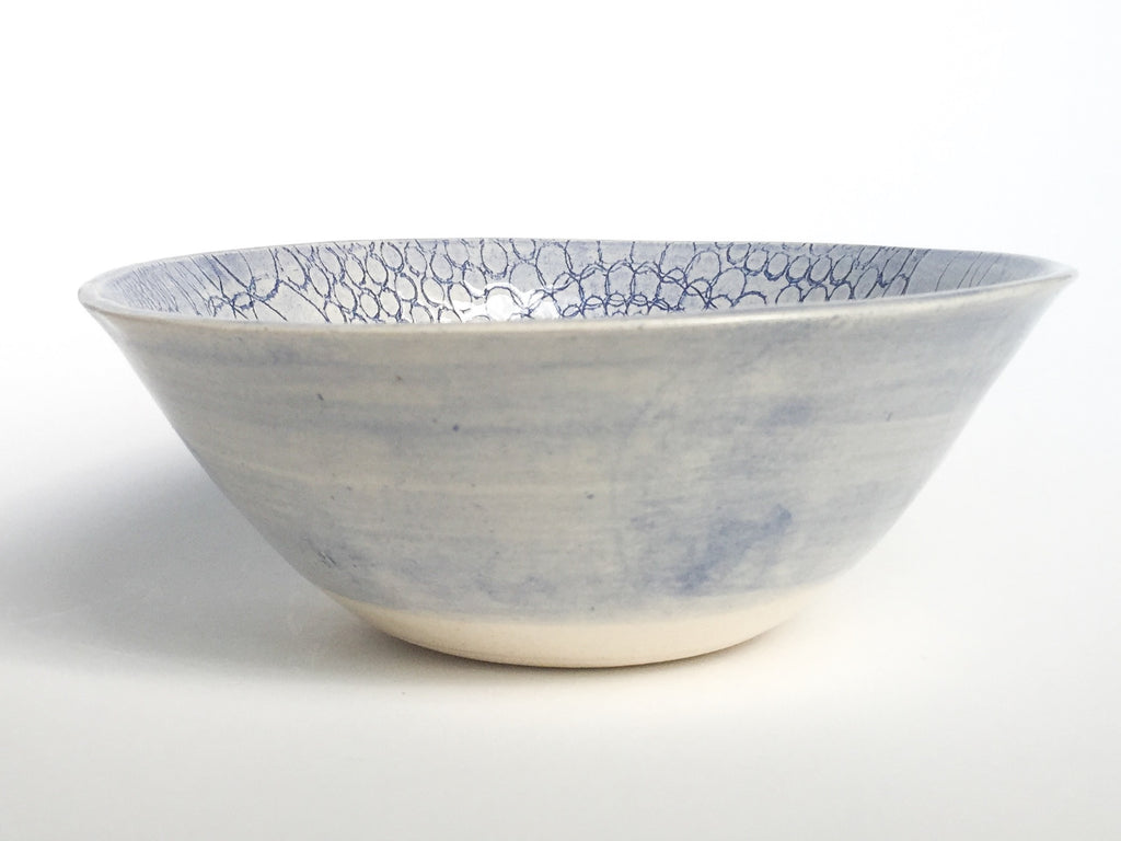 Soup Bowl, Blue African Pattern