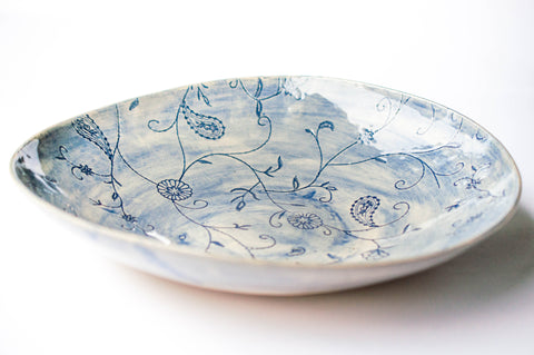 Spaghetti Bowl, Blue Pattern