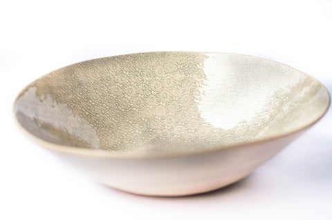 Medium Salad Bowl, Duck Egg Grey Savannah Pattern