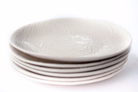 Side Plates, Set of 6, White