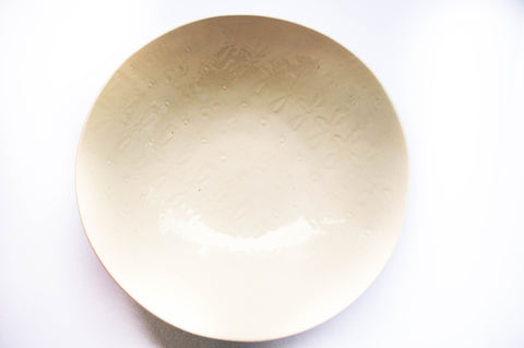 Medium Salad Bowl, White Pattern