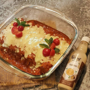 TAHINI SPINACH CANNELLONI with SMOKEY MARINARA SAUCE by chef  nili_s13
