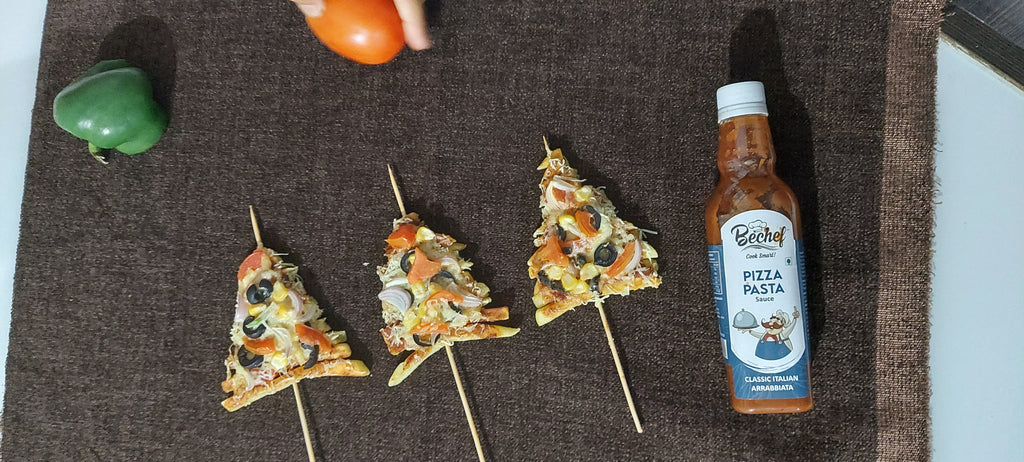 French Fries Pizza by Chef Urmila Dhaval using Behcef Pizza Pasta Sauce