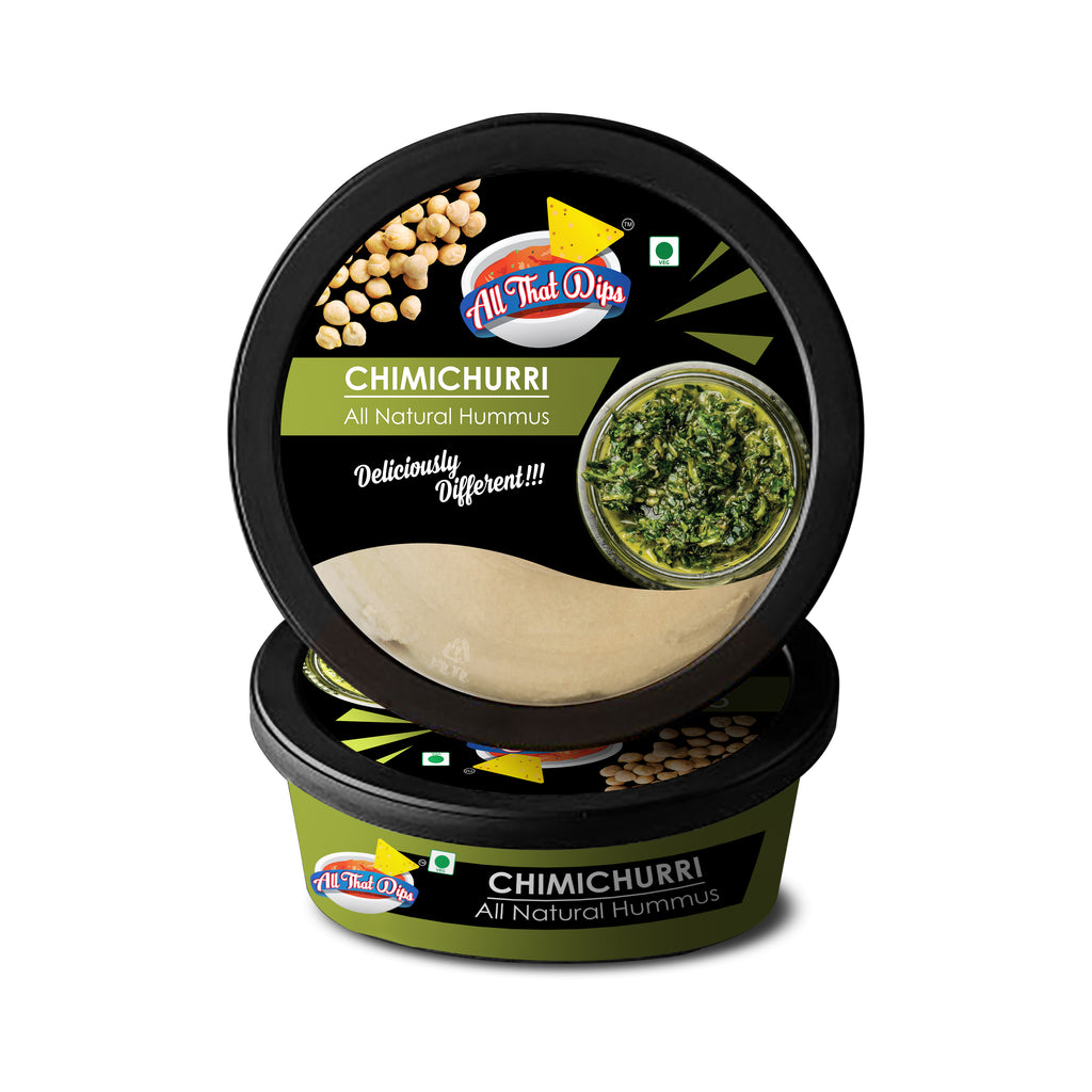 ALLTHATDIPS HUMMUS : NEW LAUNCH : CHIMICHURRI HUMMUS