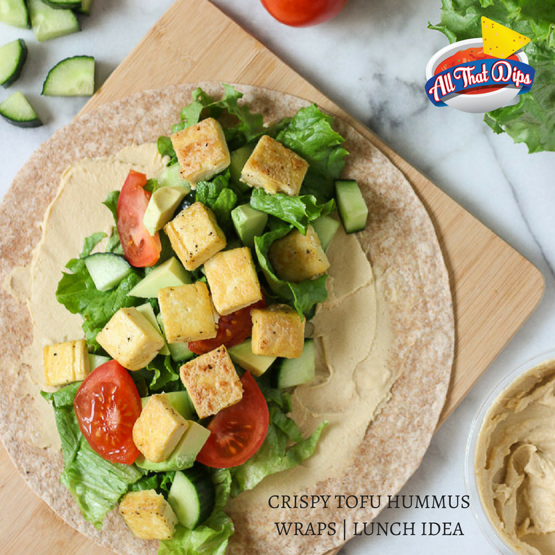 Allthatdips Recipe : CRISPY TOFU HUMMUS WRAPS | Lunch box ideas