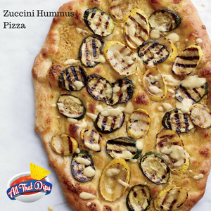 Allthatdips Recipe : Hummus and Grilled-Zucchini Pizzas