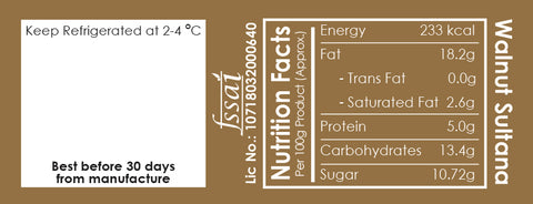 Allthatdips Walnut sultana dip nutrition facts all that dips