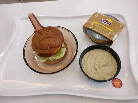 allthatdips hummus with burger best dips in india
