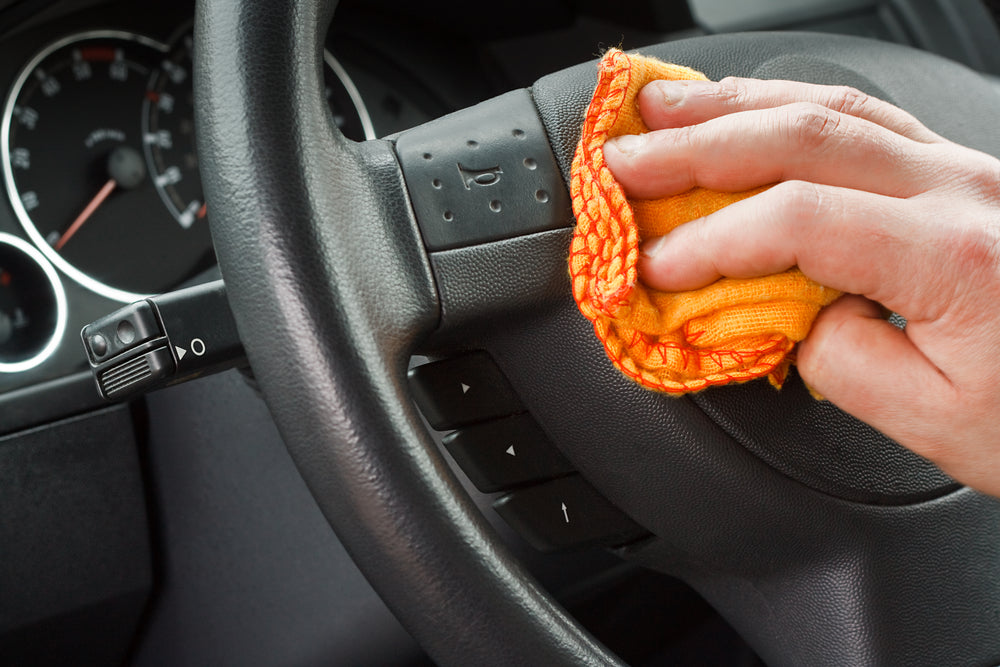 The best way to clean a steering wheel