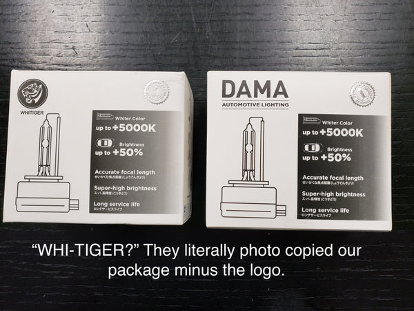 Fake product with exact duplicate copy of DAMA D3S Packaging