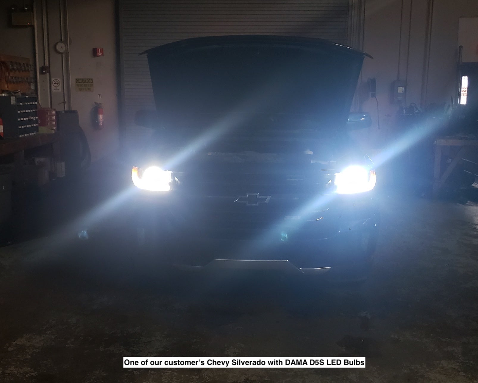 Chevy Silverado with D5S LED DAMA Kanji Ultimate Vision installed