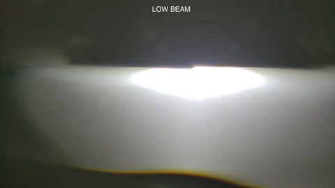 Low beam example of HCX LED projector