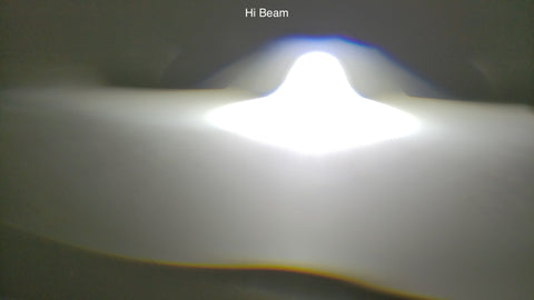 Hi beam example of HCX LED projector