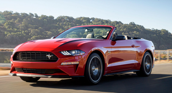 2020 Ford Mustang in red