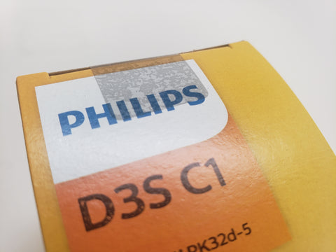 tamper-proof sticker on Philips HID Xenon bulb package
