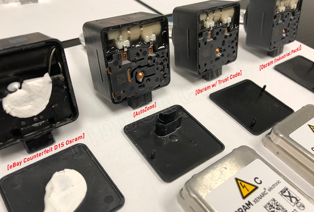 Osram, Orsam or Osarm? (Stripping down the counterfeit HID