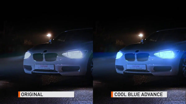 Original Bulb vs Cool Blue Advance Bulb