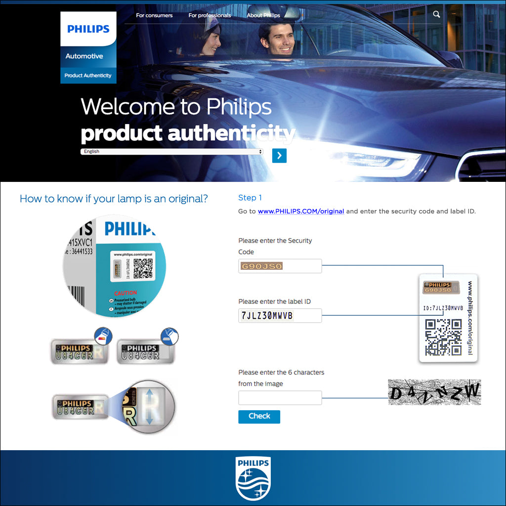 Philips product authentication