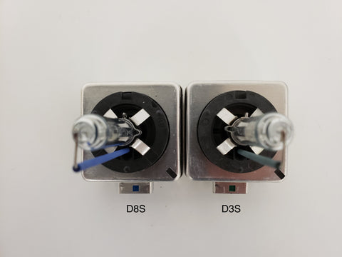 Showing the difference in between D8S and D3S base difference