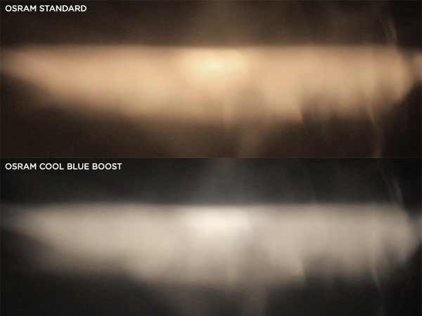 Osram Standard Vs Osram Cool Blue Boost bulbs
