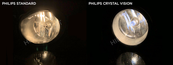 Comparison between Philips Standard bulbs and Philips Crystal Vision bulbs