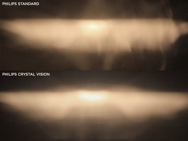Philips Standard light production vs Philips Crystal Vision light production
