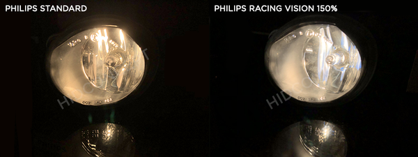 Philips Standard bulbs vs Philips Racing Vision bulbs