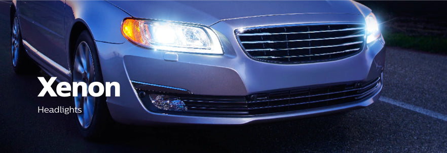 A car with Philips Ultinon HID headlights