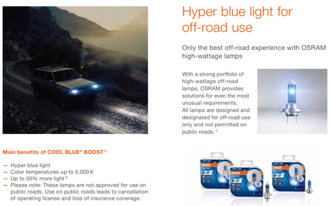 Benefits of Osram Cool Blue Boost Poster
