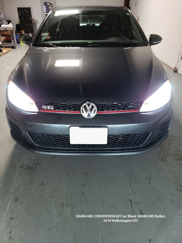 Volkswagen GTI with DAMA Kanji HID Conversion Kit installed