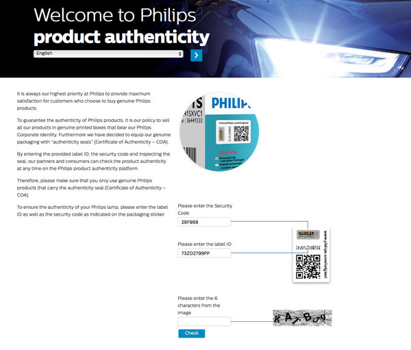 Philips certificate of authenticity process explained