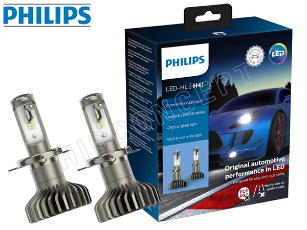 H4 Philips X-treme Ultinon LED Gen2 Headlights