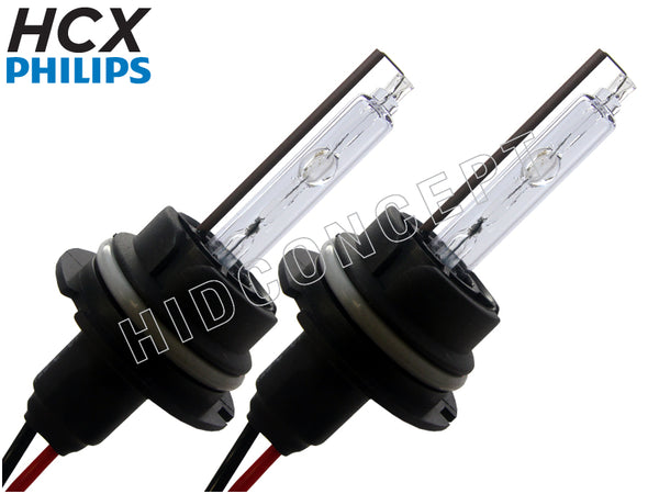 two opened #9004 (HB1) HCX Philips HID Xenon Bulbs