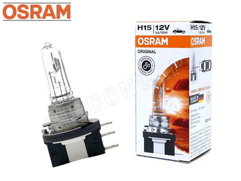 Osram H15 halogen headlight bulb with the package