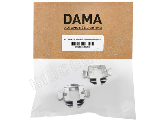 H7 - BMW VW Benz HID Xenon Bulb Adapters