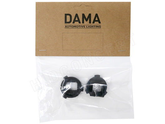 A set of DAMA H7 Hyundai to HID Xenon Bulb adapters