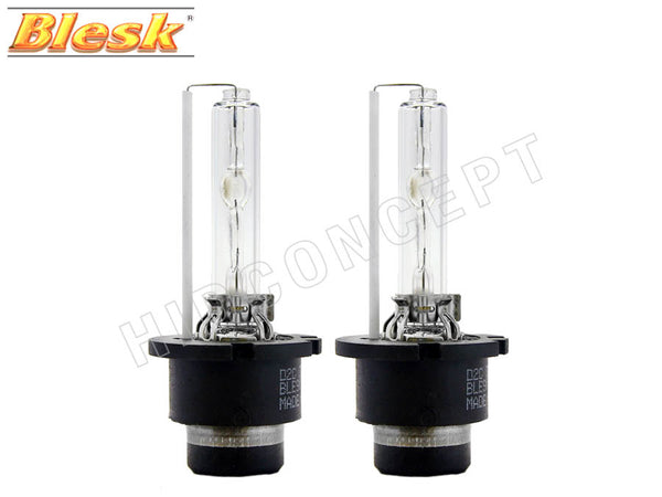 two opened BLESK D2S HID XENON Bulbs