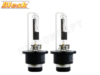 two opened BLESK D4R OEM HID XENON Bulbs