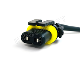 "9006 (HB4) HID Ballast Kit Xenon Wire Harness Male Female Power Cable Plug (9"") 