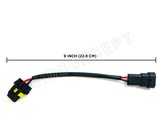 "9006 (HB4) HID Ballast Kit Xenon Wire Harness Male Female Power Cable Plug (6"") 