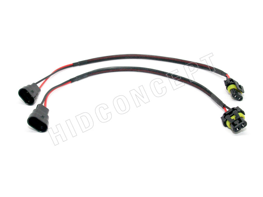 9006 (HB4) HID Ballast Kit Xenon Wire Harness Male Power Cable Plug on